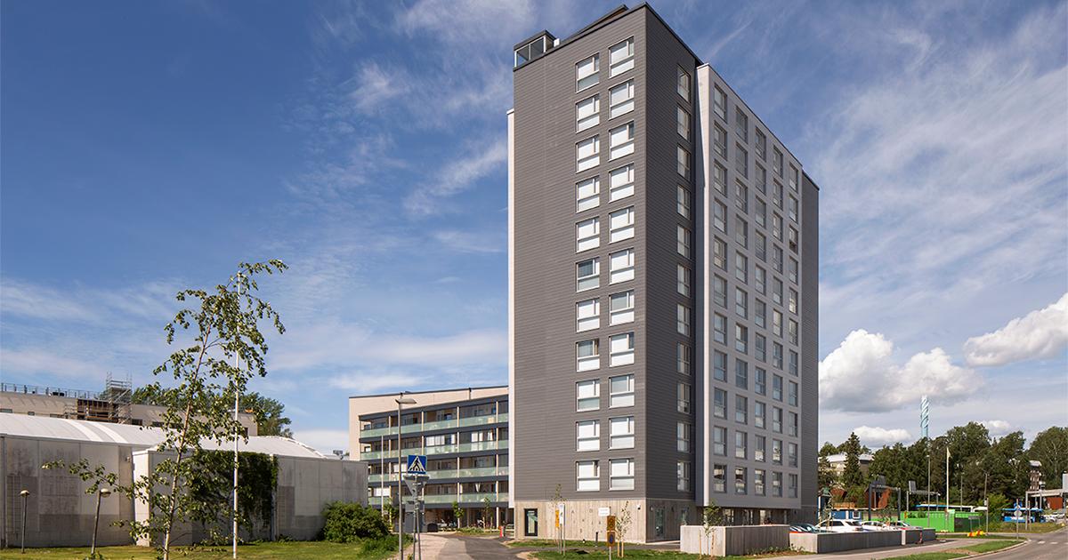 Maailman korkein CLT-tilaelementtitalo sijaitsee Espoossa