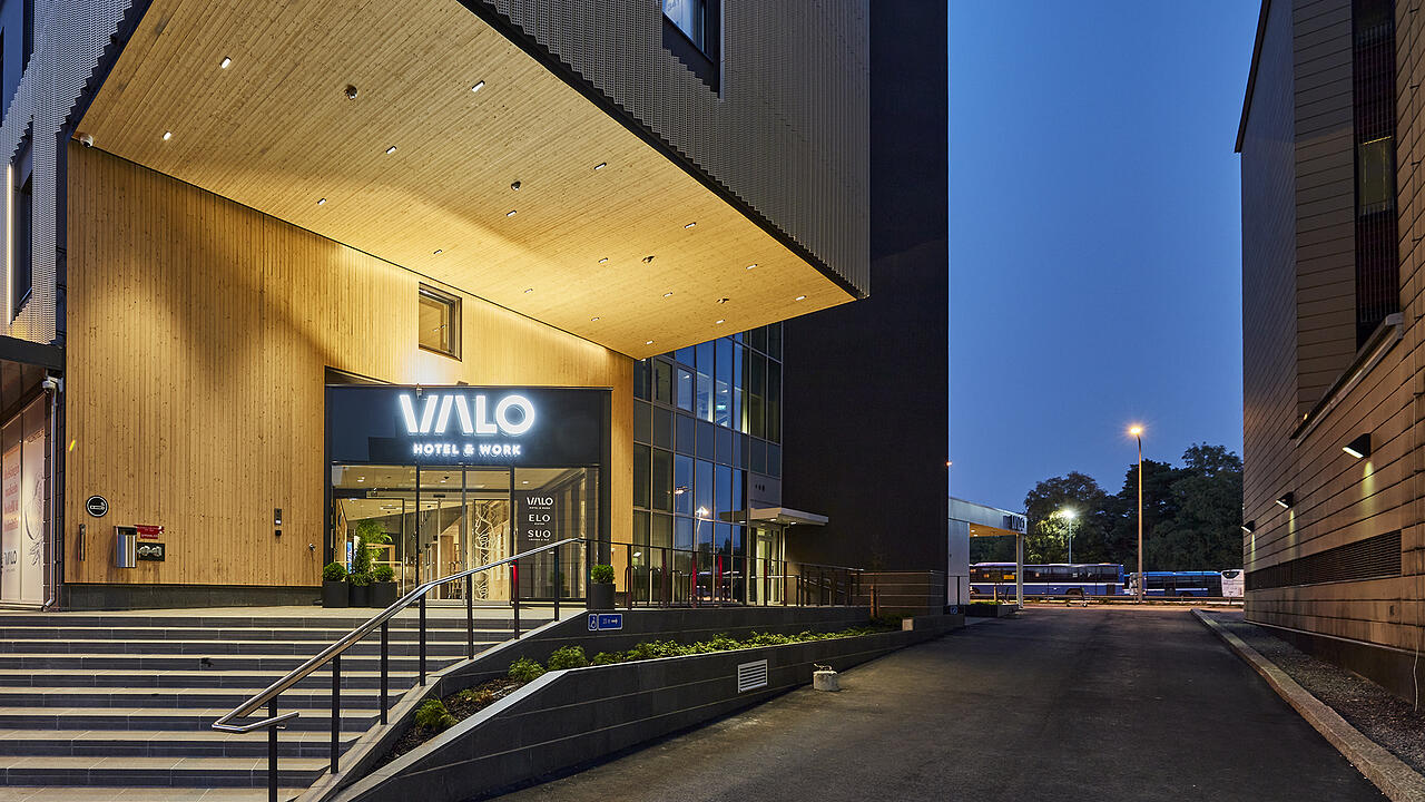 Valo Hotel & Work consists of a cosy hotel, office hotel and support facilities in one package
